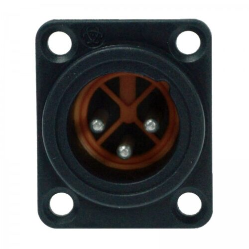 ENOVA Male XLR Chassis Connector IP67 (3Pin)